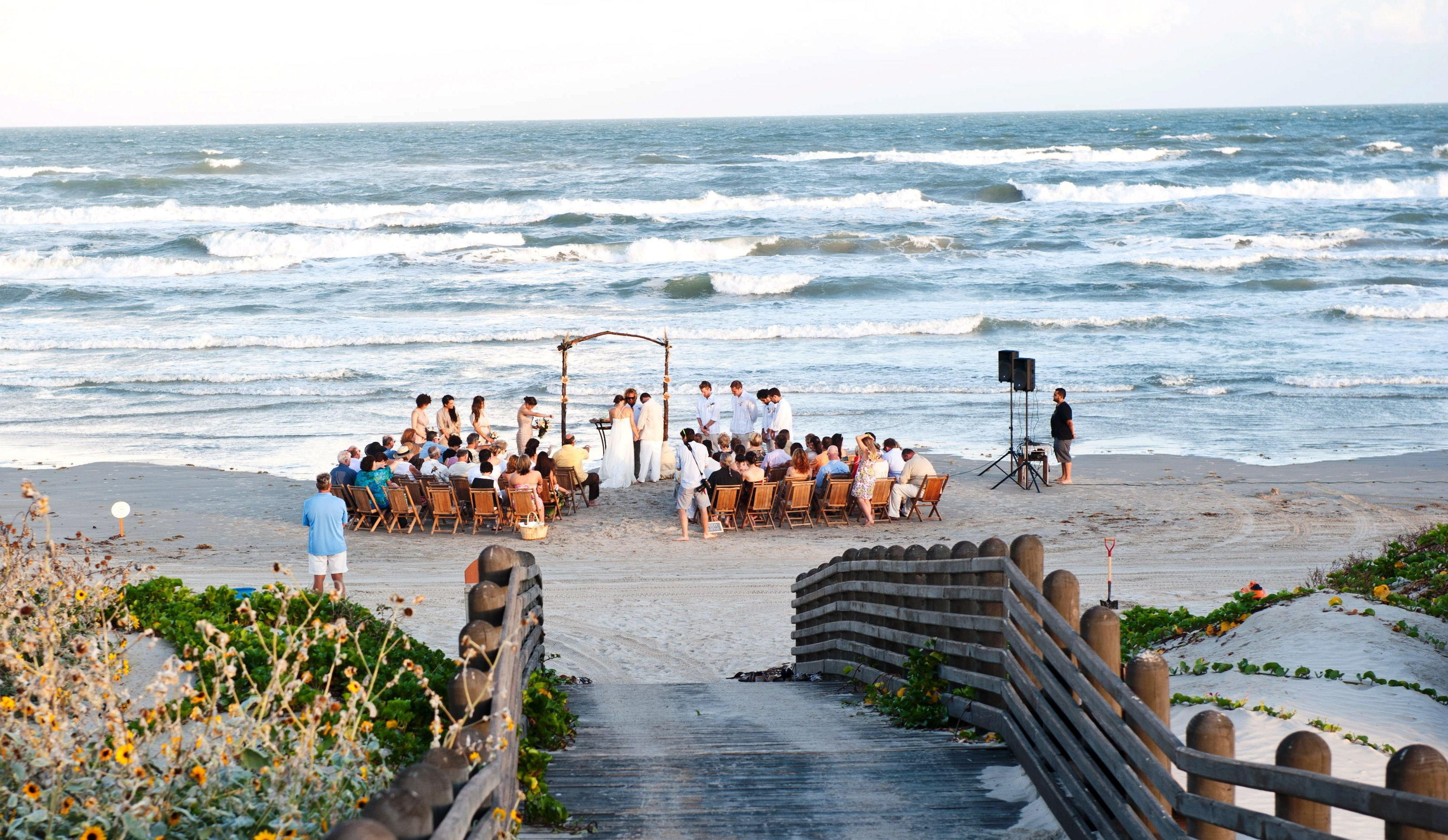 Beach wedding in texas  Beach weddings rising in popularity along Texas Gulf Coast  Beach