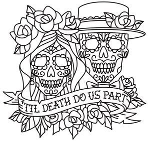Day Of The Dead Dia De Los Muertos Sugar Skull Coloring Page