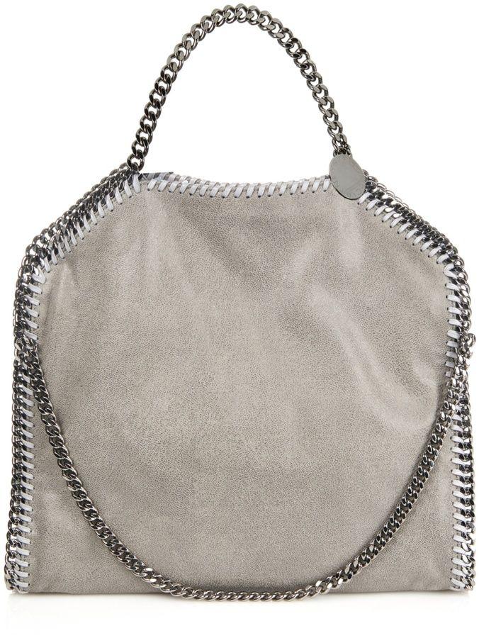 53f0f77eb35e STELLA MCCARTNEY Falabella small faux-suede shoulder bag