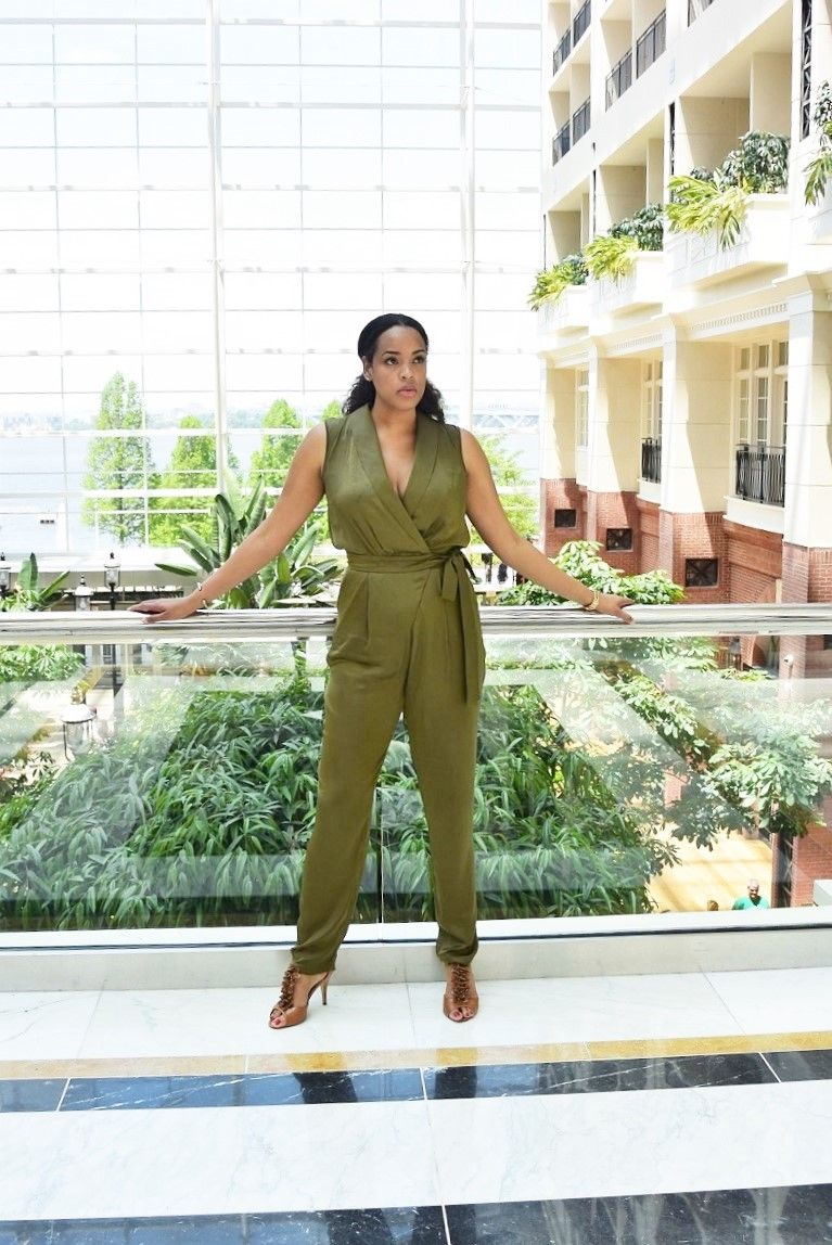 9118255587 ASOS TALL Utility Wrap Jumpsuit Tall-Jumpsuit-Women-Khaki-Jmpsuit-Tall- Blogger-Tall-Fashion-Blogger