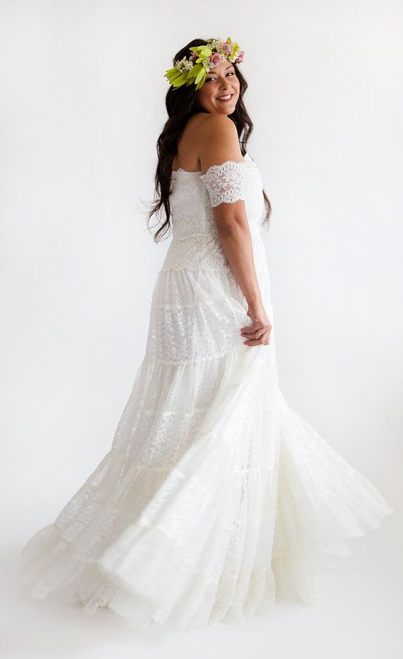 Country-Style-Wedding-Dresses-Plus-Size-Cap-Sleeve-2015-Off-the ...