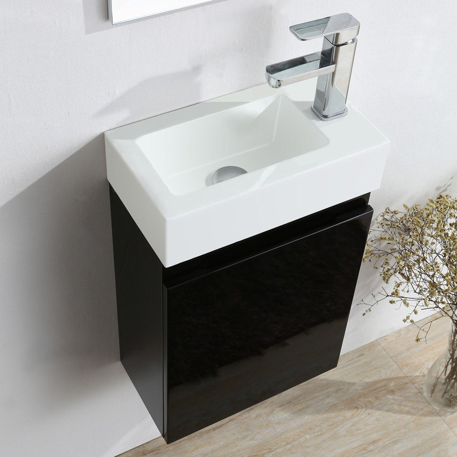 Vanity Unit White Resin Bathroom