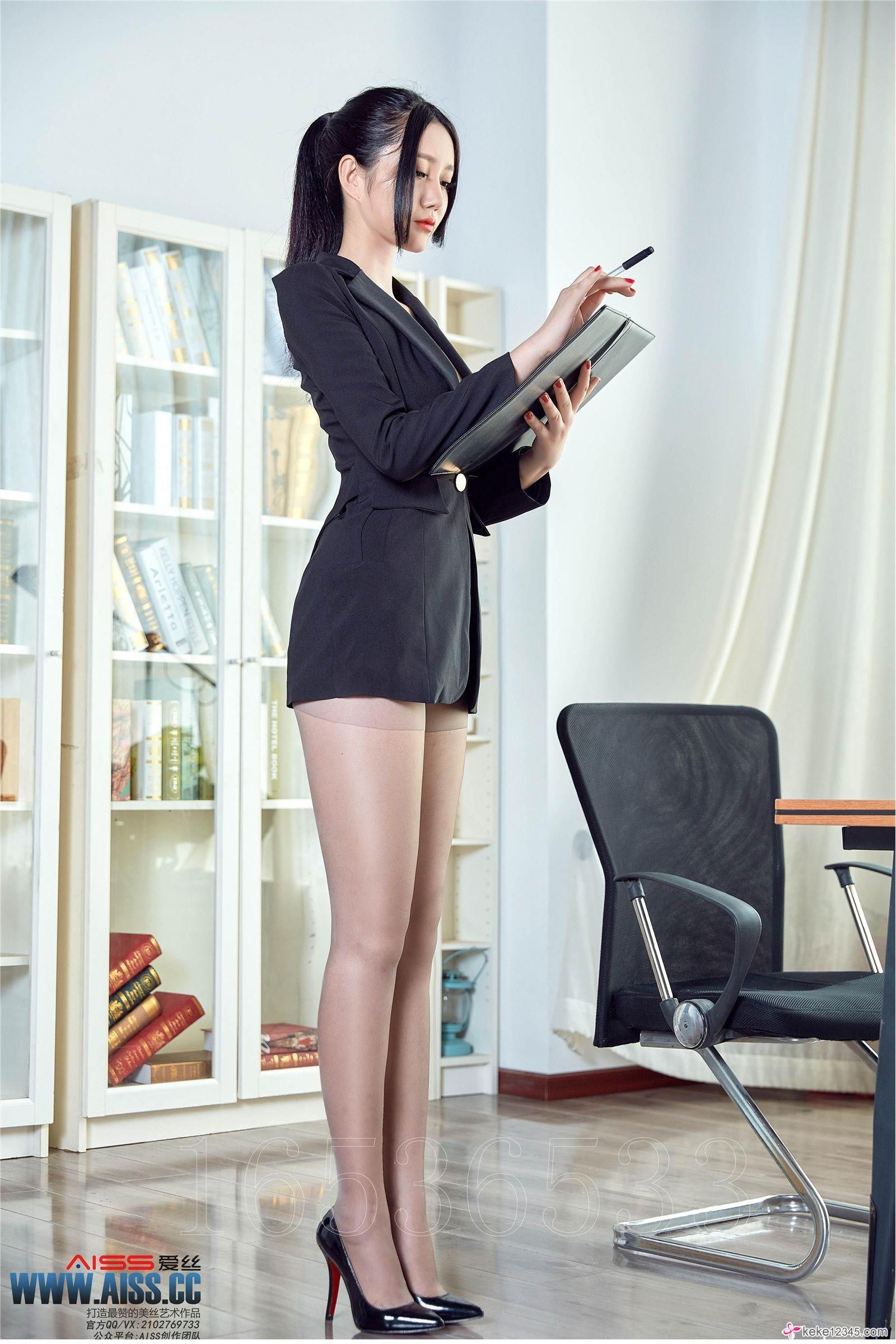 [AISS爱丝]丝袜美腿外拍 No.TR010 严佳丽 爱穿裤袜的上司 OL女郎 | sexy ...