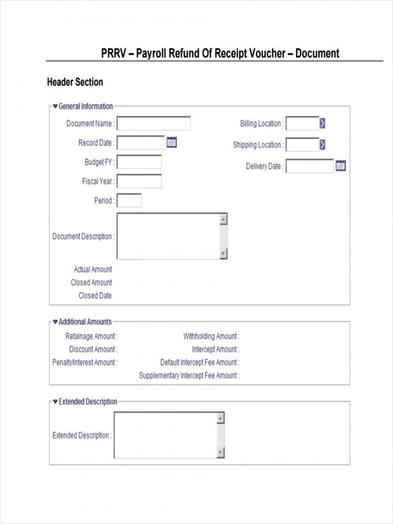 Browse Our Sample Of Cash Refund Receipt Template Receipt Template Templates Receipt