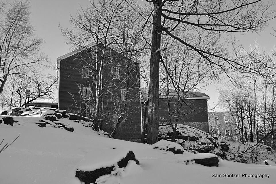 The mill in black and white at Glen Park, Williamsville, NY