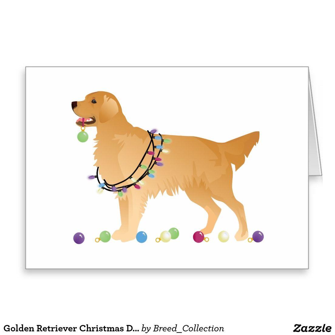 Golden Retriever Christmas Design Holiday Card Zazzle Com
