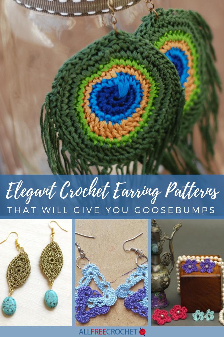 32 Elegant Crochet Earring Patterns That Will Give You Goosebumps