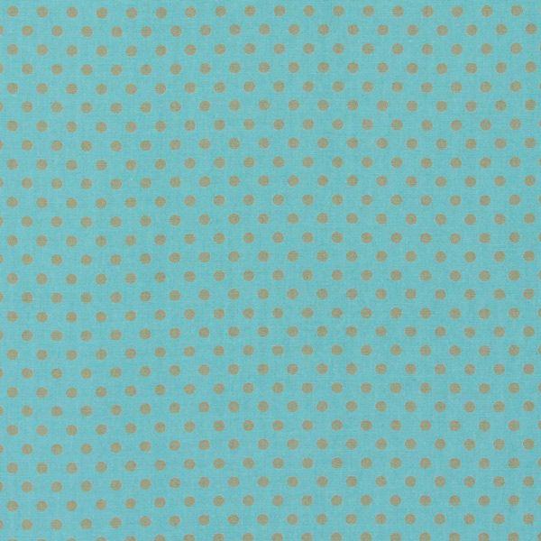 Cotton Soft Dots 11 - türkis - Sonstige Kinderstoffe - Baumwollstoffe Punkte - Aqua - stoffe.de