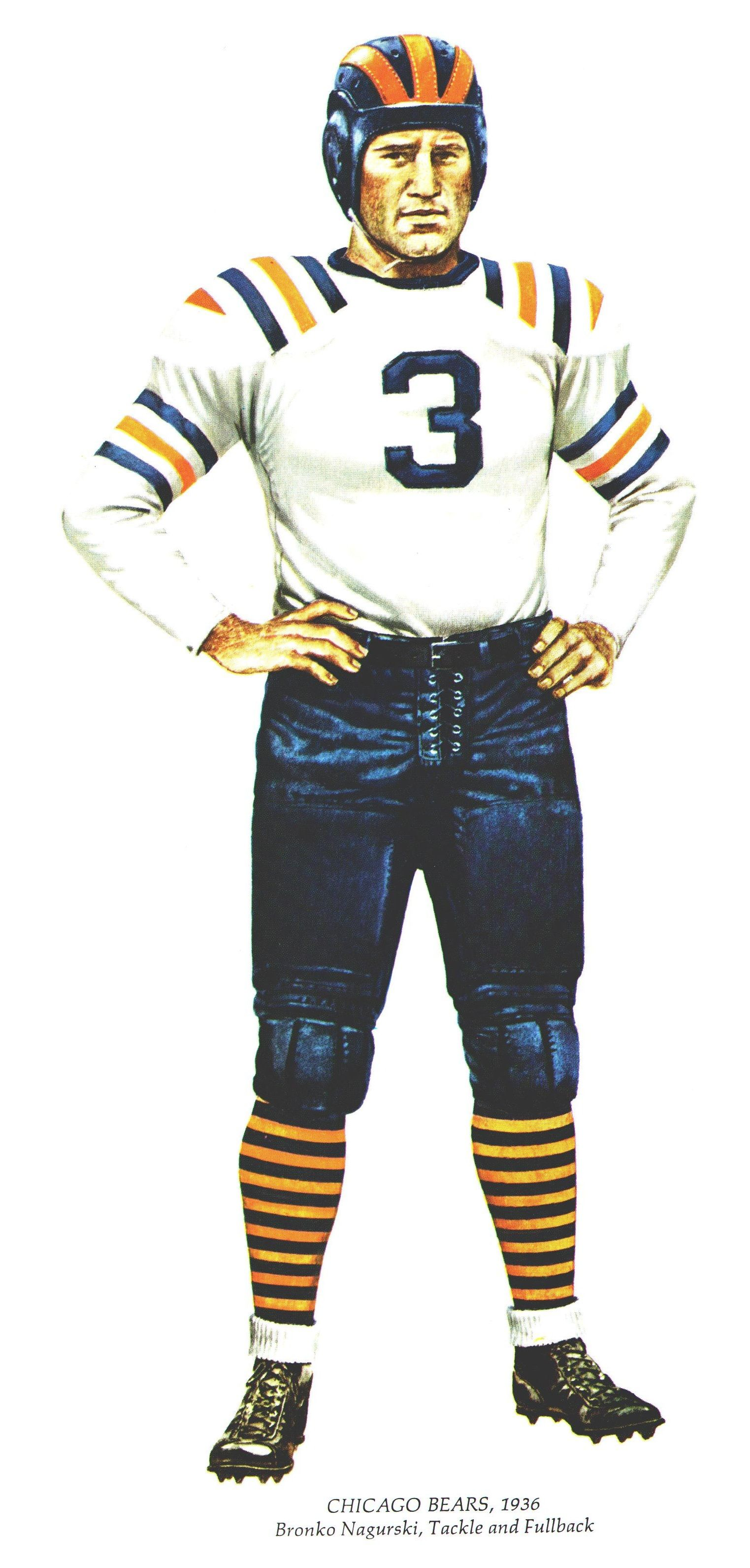 488b98fc62d This uniform is beautiful and easily my favorite throwback. The alternating  blue and orange stripes are the origins of the Bears current away uniform  and I ...
