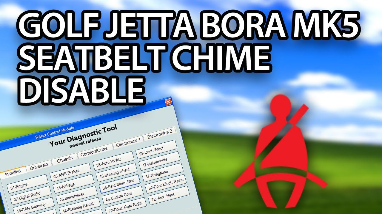 How to #disable #seatblet chime in #VW #Golf #Jetta Bora MK5
