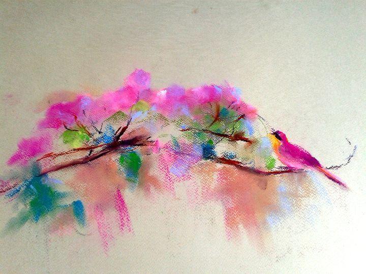 Spring - Roniyana - Paintings & Prints Animals Birds & Fish Birds Other Birds… | ArtPal thumbnail