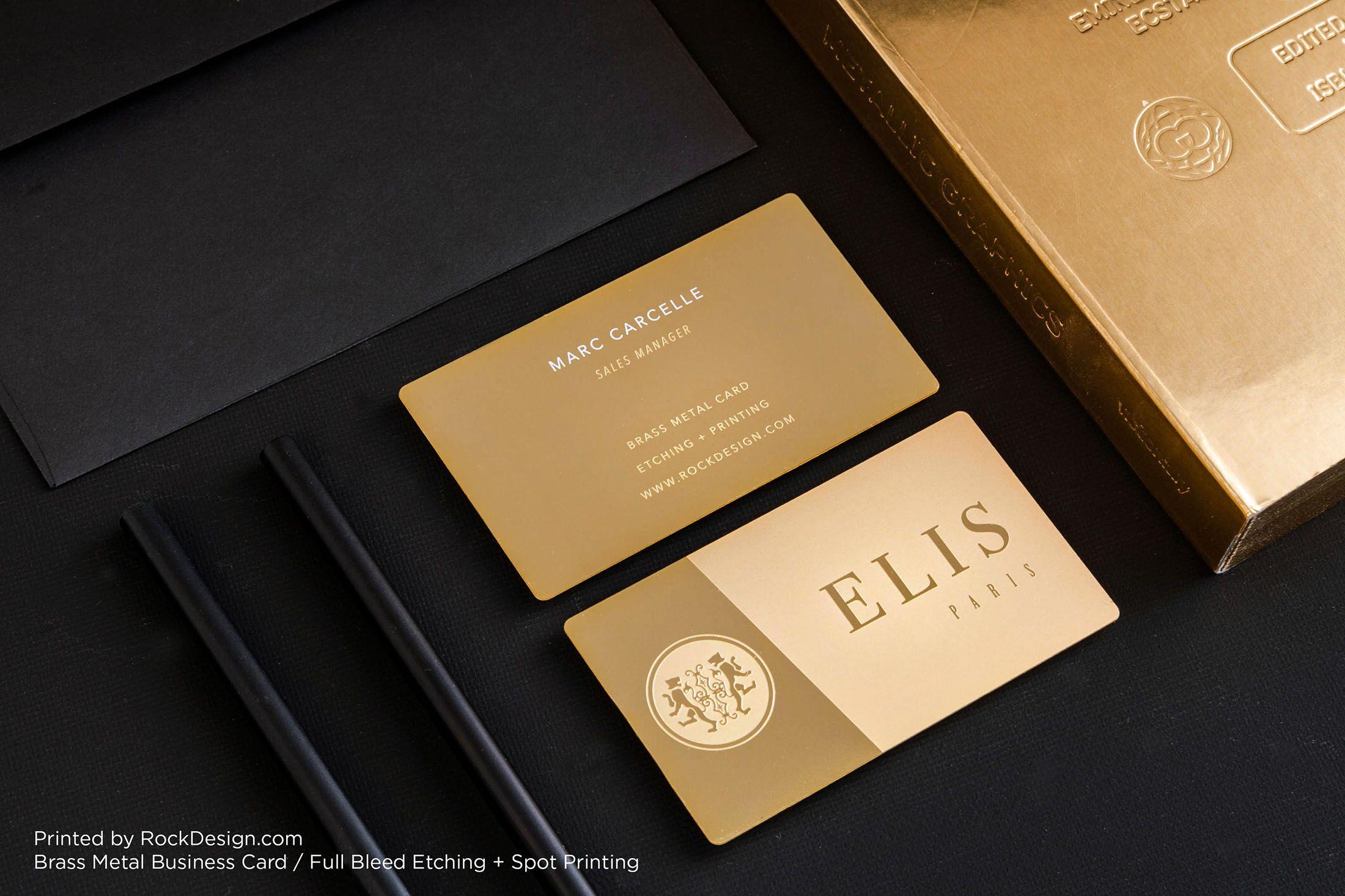 Luxury modern gold metal card elis rockdesign luxury business luxury modern gold metal card elis rockdesign luxury business card printing reheart Images