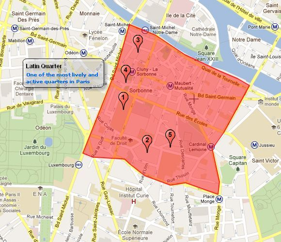 Latin Quarter Paris Google Search Latin Quarter Pinterest - Paris map quarters