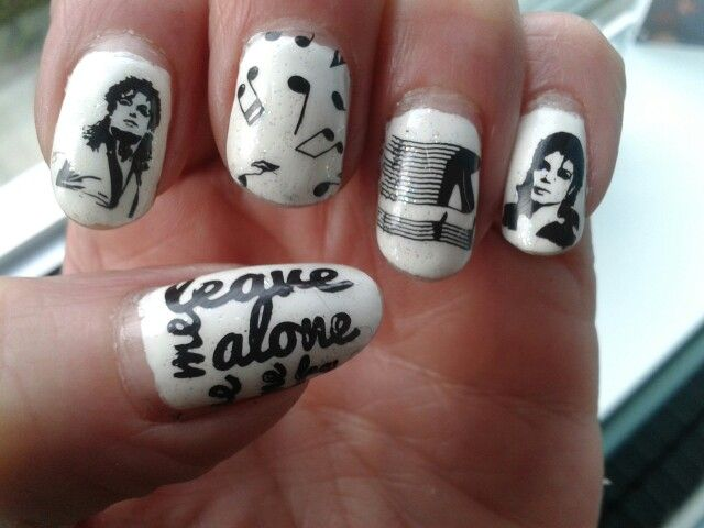 Michael jackson nail stamping art #neato | A Random Michael Jackson ...