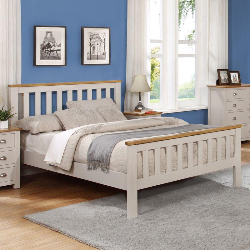 Cooper Grey Wooden Bed Frame Wooden Bed Frames Bed Frame Oak