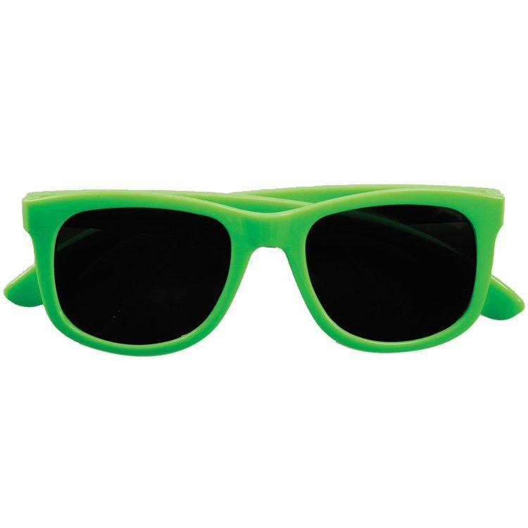 80s Glasses Neon Green