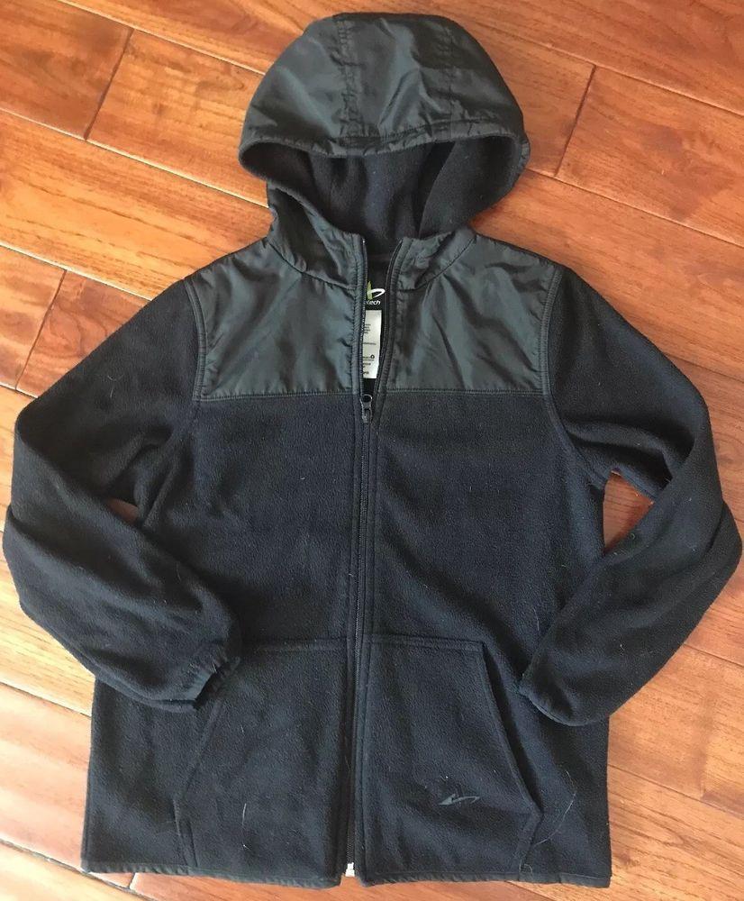 1b4429e72e2f Athletech black hooded jacket full zip boy s size Large (10 12 ...
