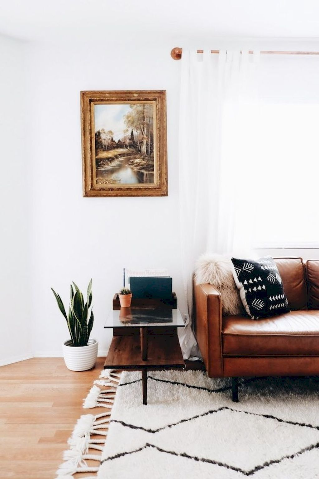 A mid-century living room is the perfect place to relax, but also ...
