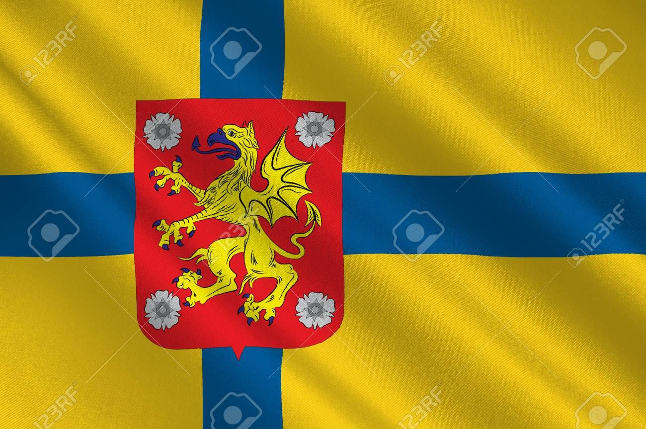 Flag Of Ostergotland County In Southeastern Sweden 3d Illustration Stock Photo Ad County Southeaste Organic Logo Design Logo Design Trends Organic Logo