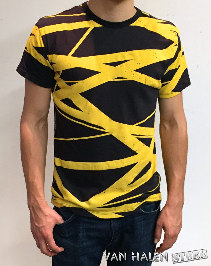 Evh blackyellow stripes shirt yellow striped shirt