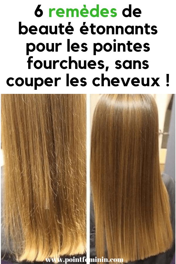 Couper les pointes de cheveux longs