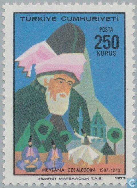 postage stamps turkey nhlanhla od din rumi