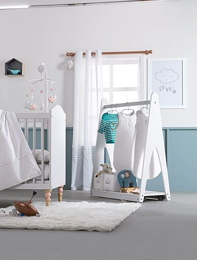 Curtain White New Baby Room Pinterest Room - Portant vetement bebe