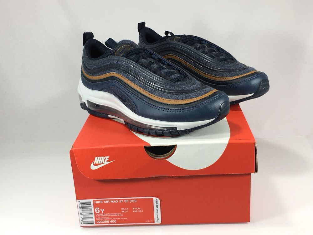 online store 20de5 390a8 Nike Air Max 97 SE (GS) Big Kids Thunder Blue Dark Obsidian 923288-400 Size  6Y  Nike  SportsTrainers