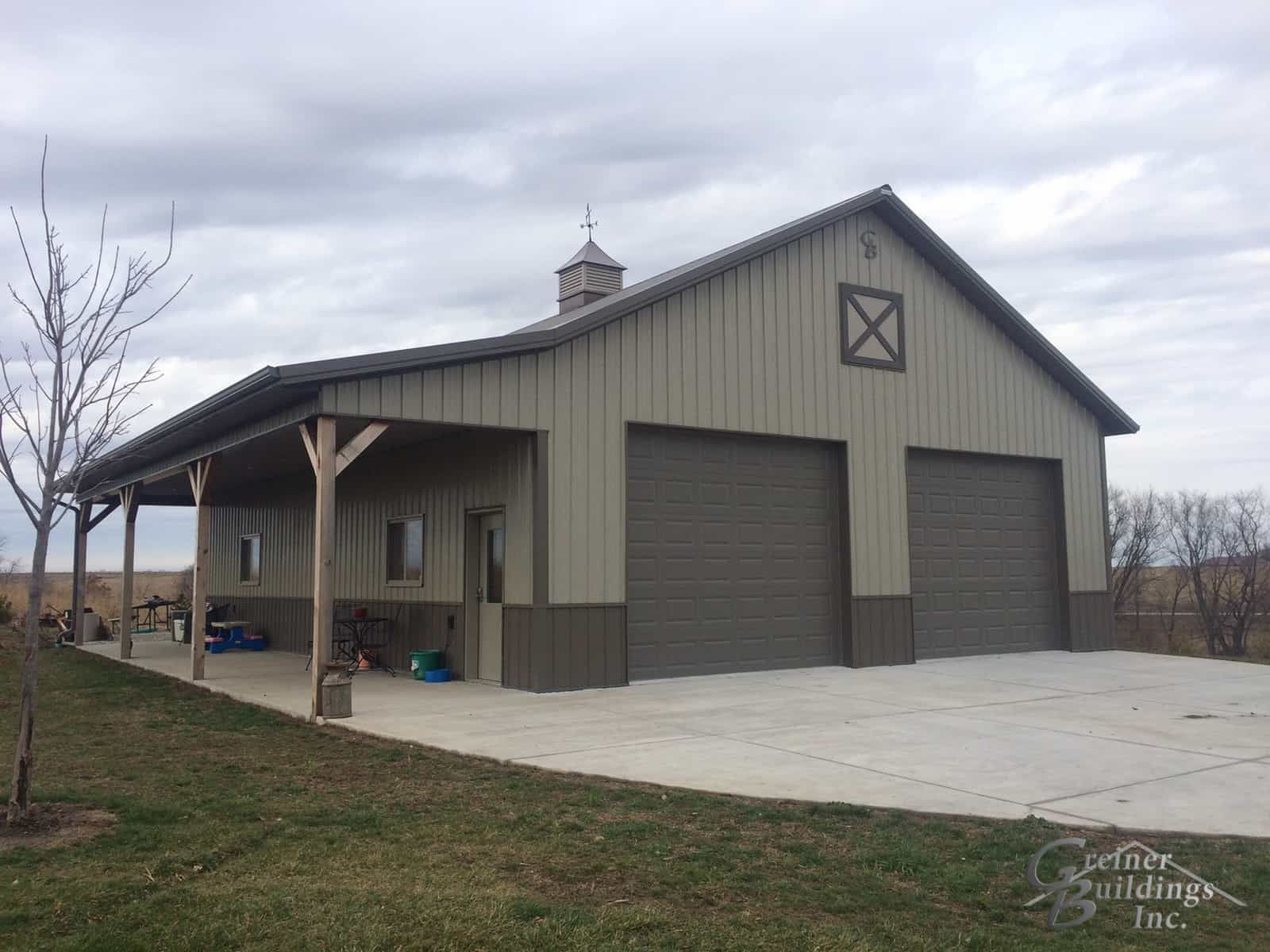 30 Wide X 40 Long X 12 Tall Metal Garage Workshop With A Side Porch Area 12x40x9 Gb 3516 Jak Metal Garage Buildings Barn House Plans Building A Pole Barn