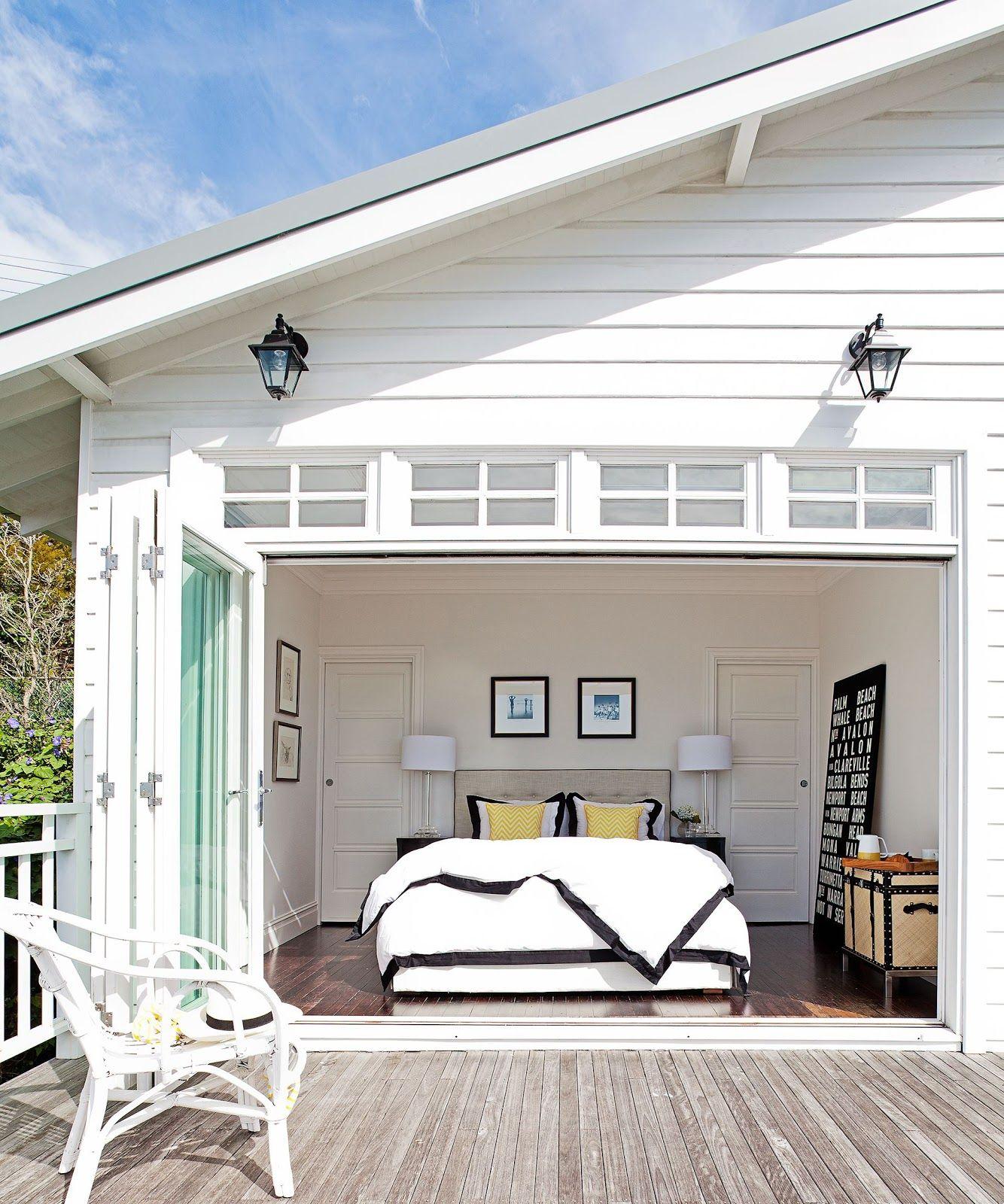 Hamptons Inspired Luxury Home Master Bedroom Robeson: Master Bedroom Inspired By The Hamptons. Garage Door
