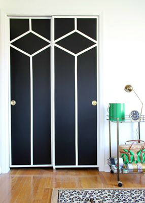 If You Have Actually Found Wallpaper That You Like But You Do Not Intend To Cover Your Room Walls Door Makeover Diy Closet Doors Painted Closet Door Makeover