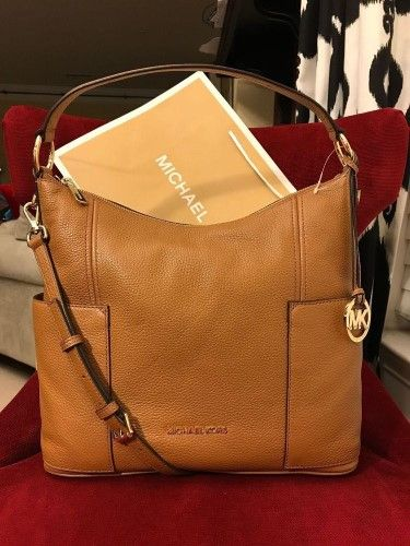 a1a7a9efe58d Nwt Michael Kors Leather Anita Large Convertible Shoulder Bag In Acorn