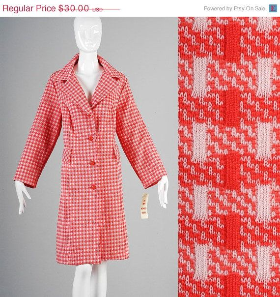 10% OFF Deadstock NOS Vintage Red White Check by StyleandSalvage