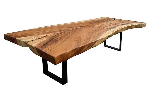 Acacia Slab Dining Table Over 10 Ft Long Beautiful Statement