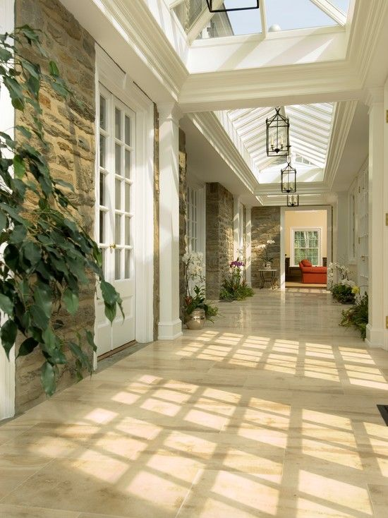 Hallway Skylights Home Pinterest Entrada, Estancias Y Luces