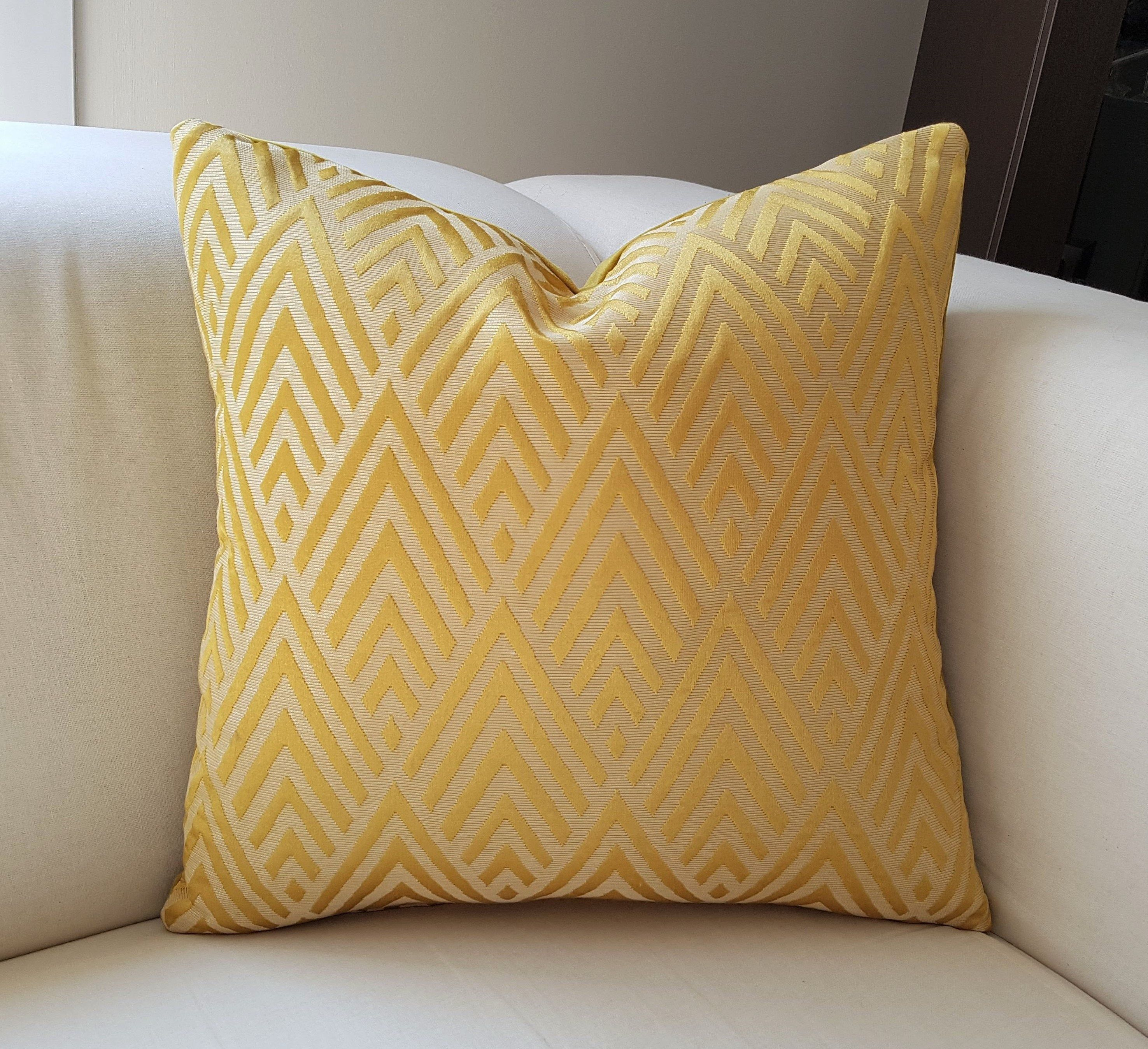 Pillow Covers Luxury Gold Orange Pillow Premium Quality Decorative