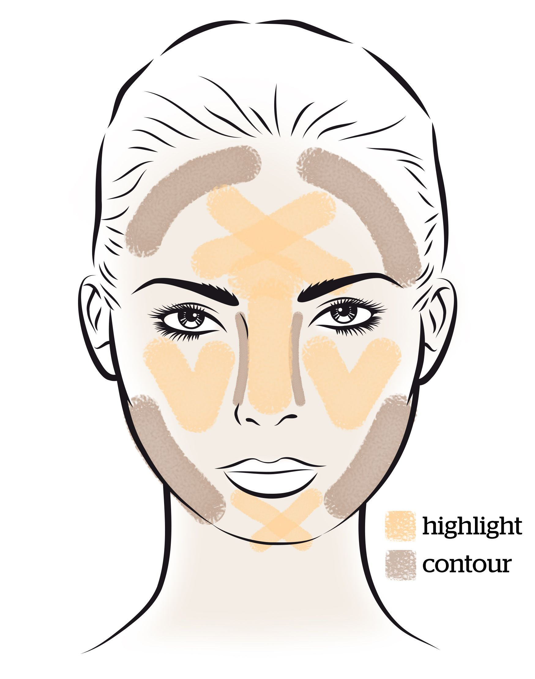 How To Contour A Square Face With Images Square Face Makeup