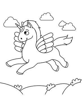 ausmalbild fliegendes einhorn zum ausmalen. ausmalbilder | ausmalbilderpferde | malvorlagen