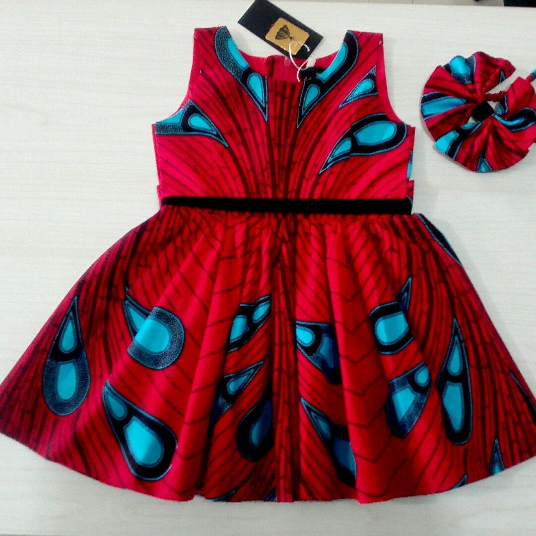 70d24331ff636 This Ankara girls dress is available in 11 color options. | Ankara ...