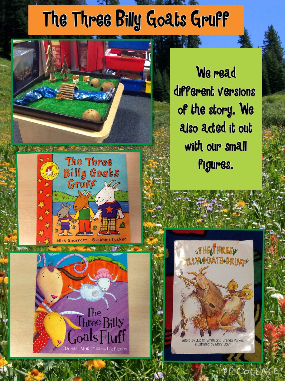 The Three Billy Goats Gruff Books And Small World