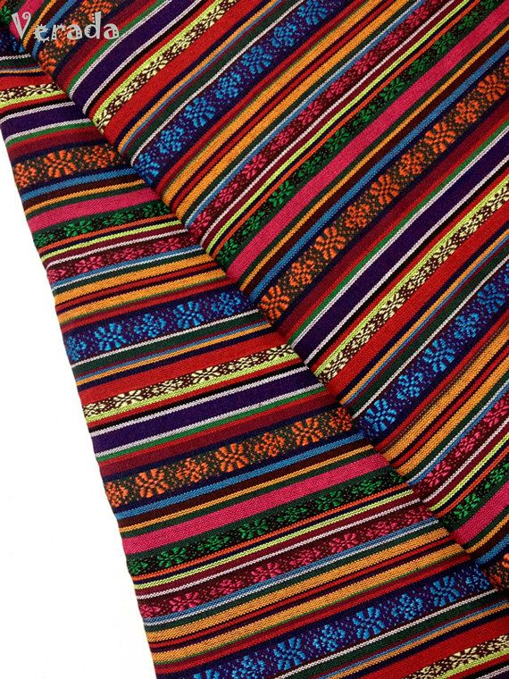 Thai Woven Fabric Tribal Fabric Native Cotton Fabric By T