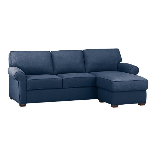 A Navy Blue Sleeper Sectional Not The Exact Look I Want Want Straight V Rolled Arms Daintier Legs But Close Sofa Couch Sleeper Sofa