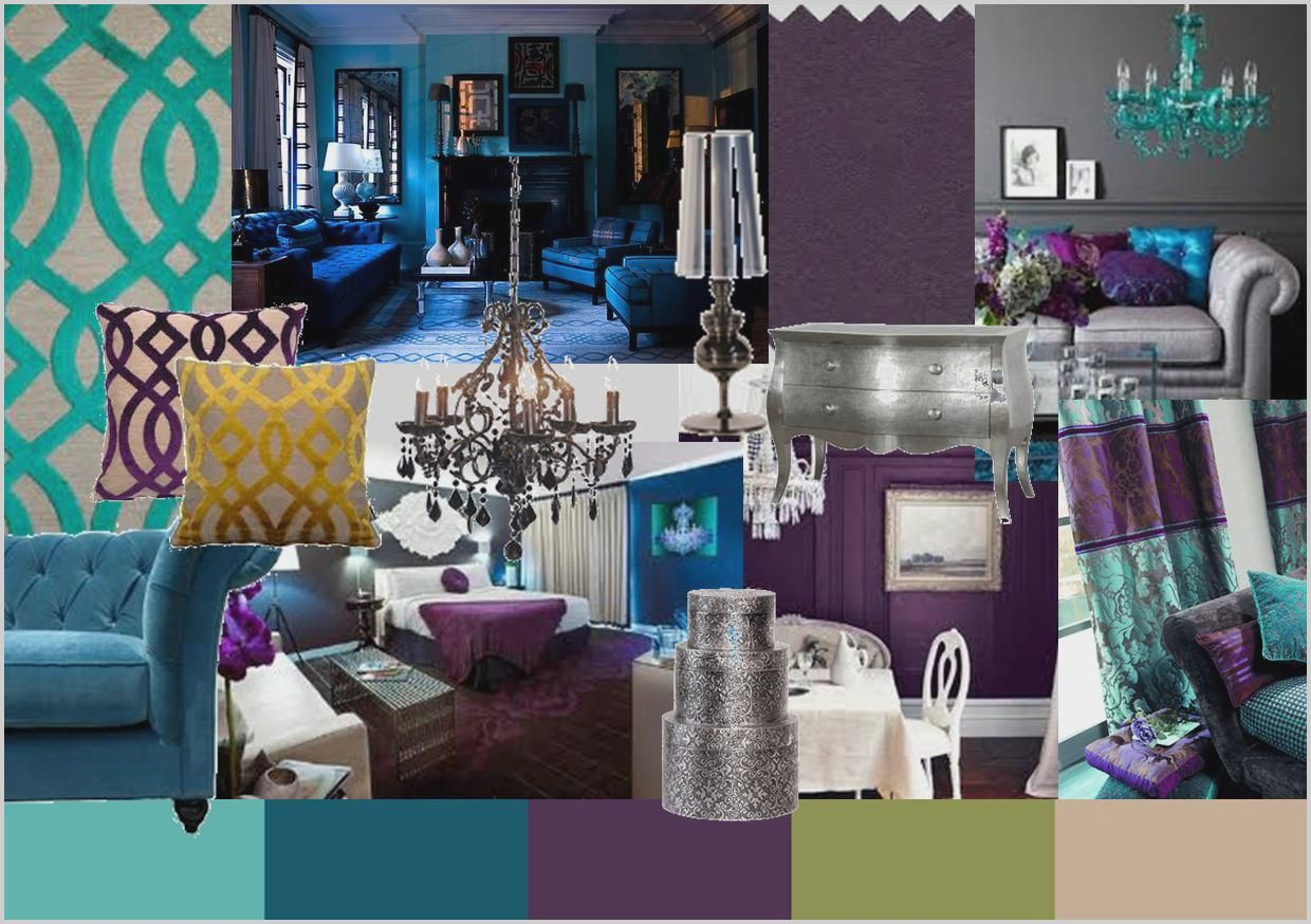 Teal Grey And Gold Living Room In 2020 Peacock Blue Living Room Purple Living Room Blue Living Room #teal #and #gold #living #room