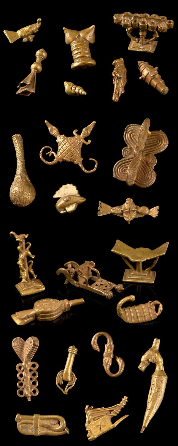 Africa goldweights from the ashanti people of ghana