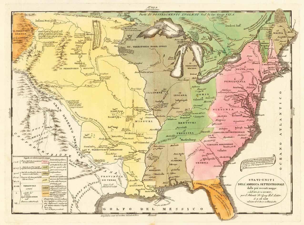 Stati uniti dell 39 america settentrionale dalle piu recenti for Atlante compass