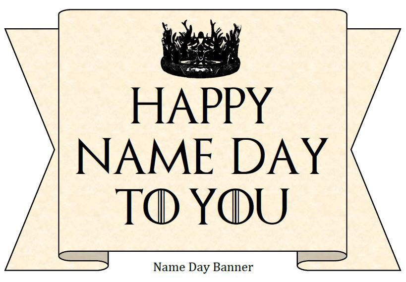 Game Of Thrones Party Printables Bethsartcrafts Happy Name Day Game Of Thrones Birthday Game Of Thrones Party