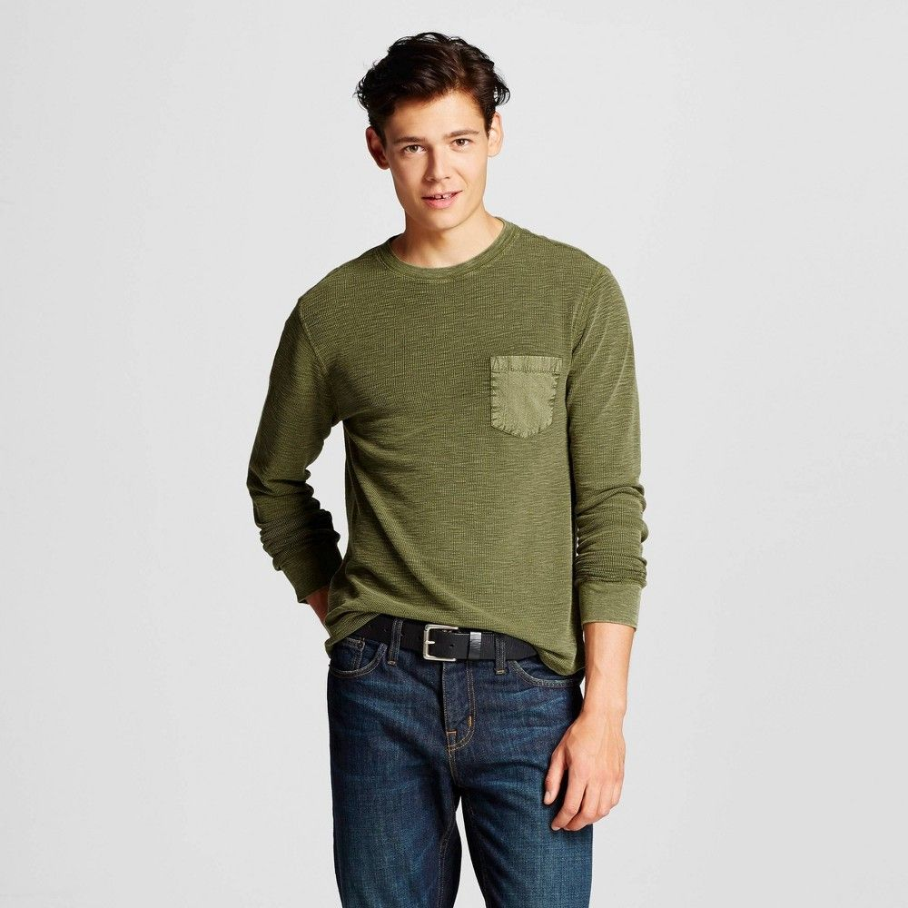 Men S Long Sleeve Washed Thermal Green S Mossimo Supply Co Men S Long Sleeve Washed Thermal Green S Mossimo Supply Co Mens Long Sleeve Long Sleeve Mossimo [ 1000 x 1000 Pixel ]