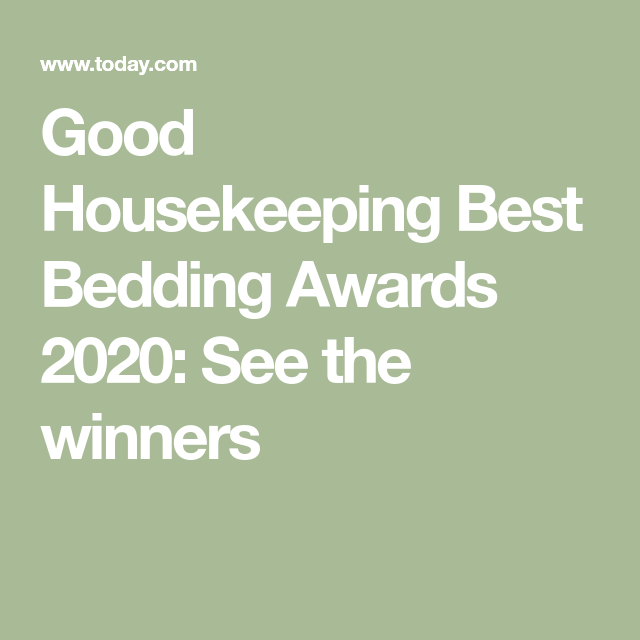 Bedding Awards 2020 Good Housekeeping, Good Housekeeping Best Bedding 2020