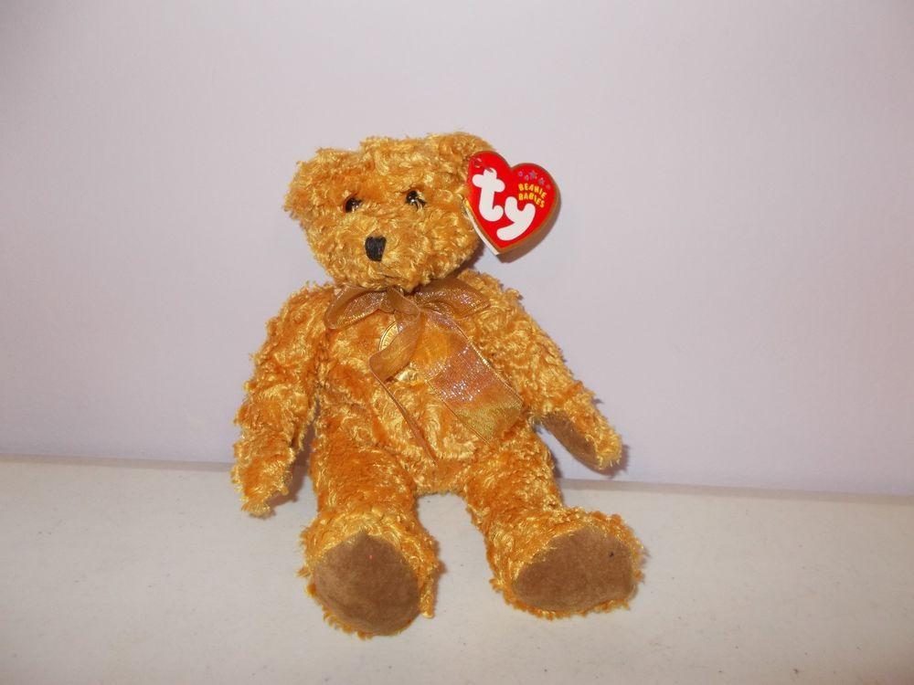3eb19159b74 Ty Beanie Babies 100 Year Anniversary Teddy Bear Plush + Tag  Ty ...