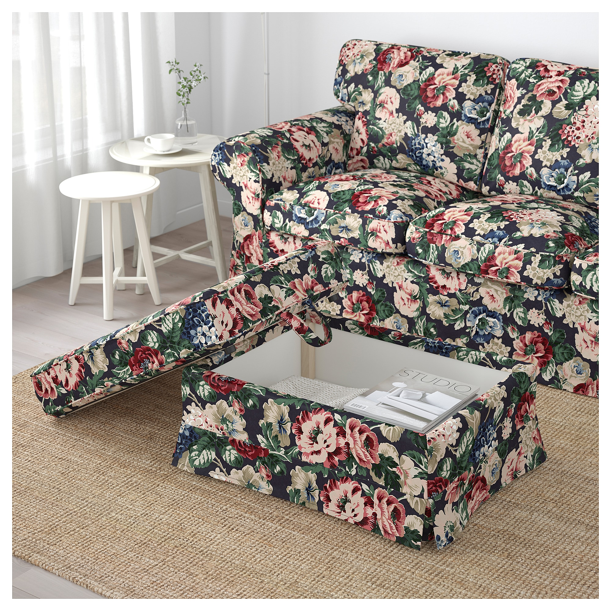 Enjoyable Ikea Ektorp Lingbo Multicolor Ottoman In 2019 Ikea Fabric Ibusinesslaw Wood Chair Design Ideas Ibusinesslaworg